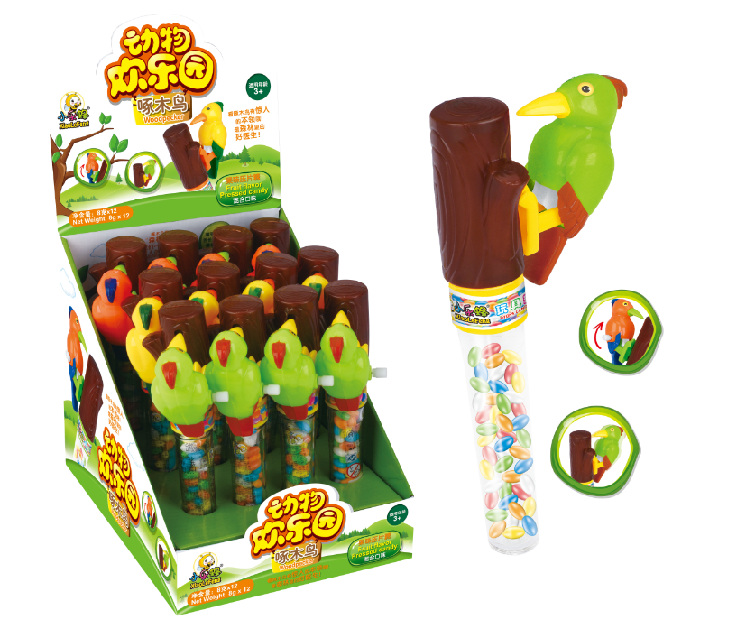 Wind Up Woodpecker Sweet Candy with little Toy 2