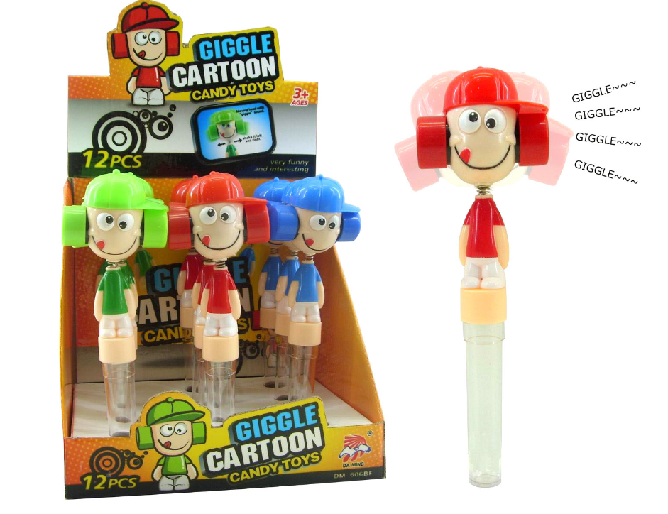 Lovely KID head Wiggle and Giggle Sweet Candy cartoon Toys 1