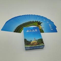 中国蓝芯牌游戏卡广告纸牌扑克宽牌设计定制