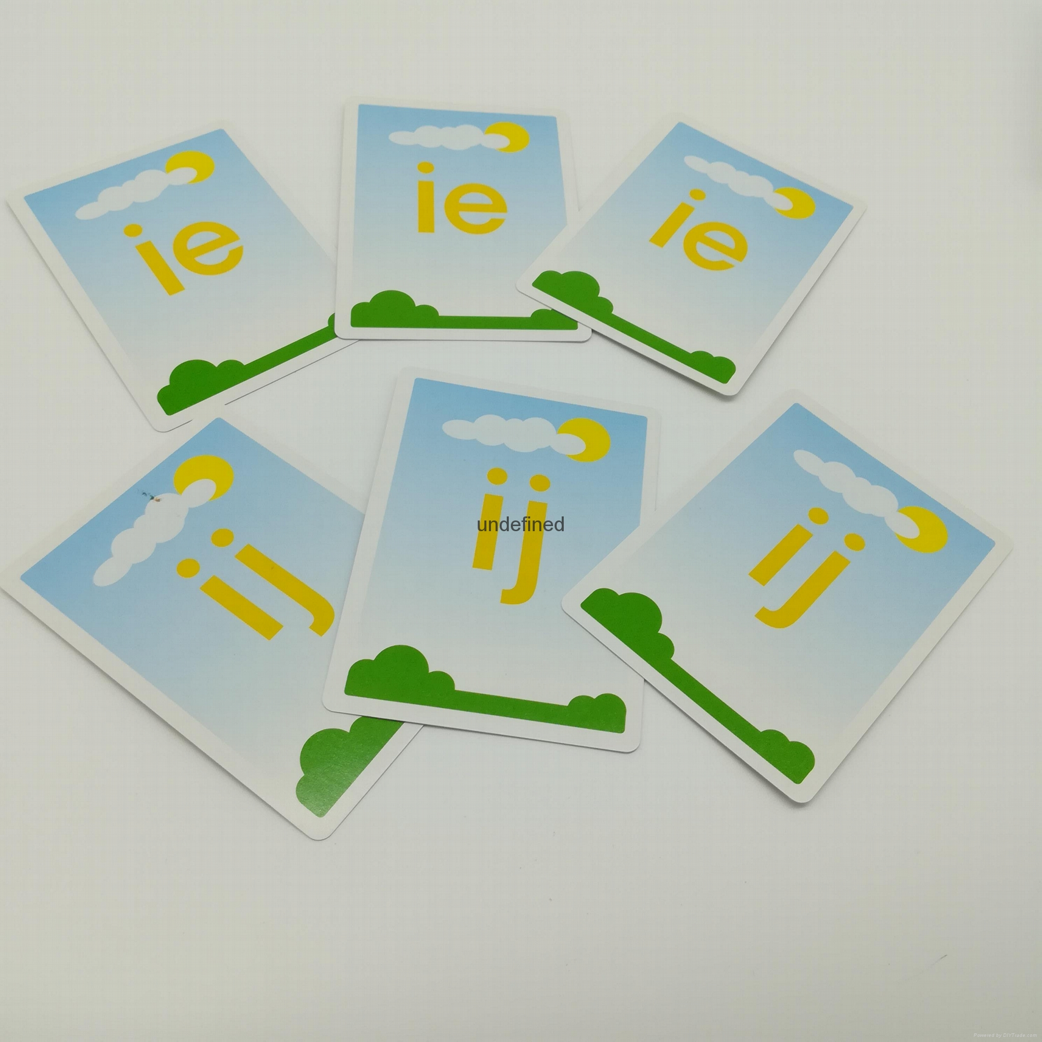 CMYK Children Alphabet Simple letter Learning Cards To learn 1