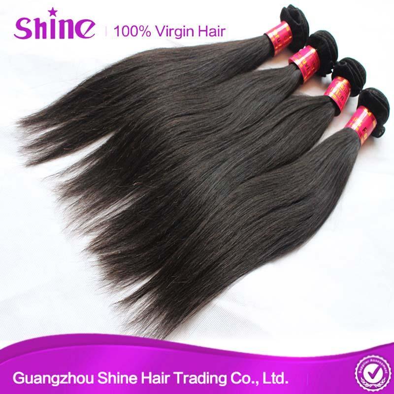 9A High Quality Silky Straight Human Hair Weave 5