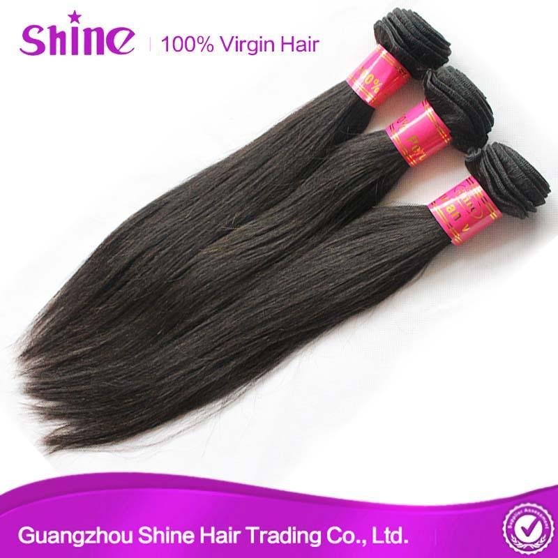 9A High Quality Silky Straight Human Hair Weave 3