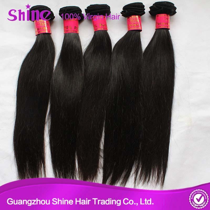 9A High Quality Silky Straight Human Hair Weave 1