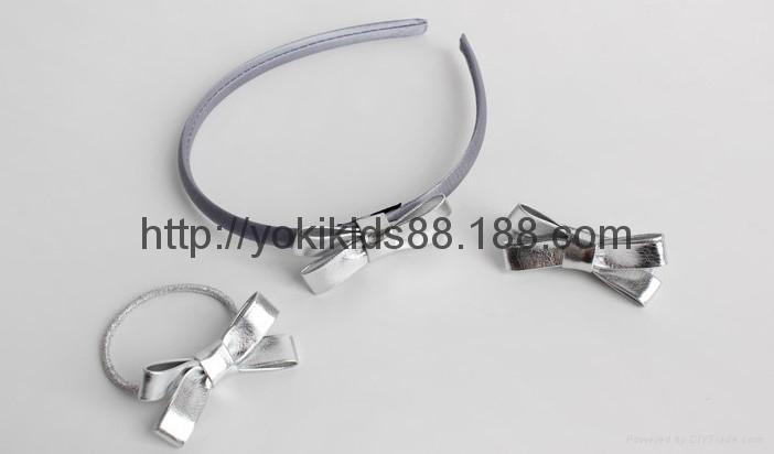 PU bow headdress hairclip headband 3