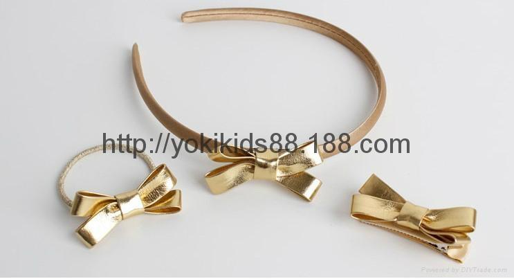 PU bow headdress hairclip headband 4