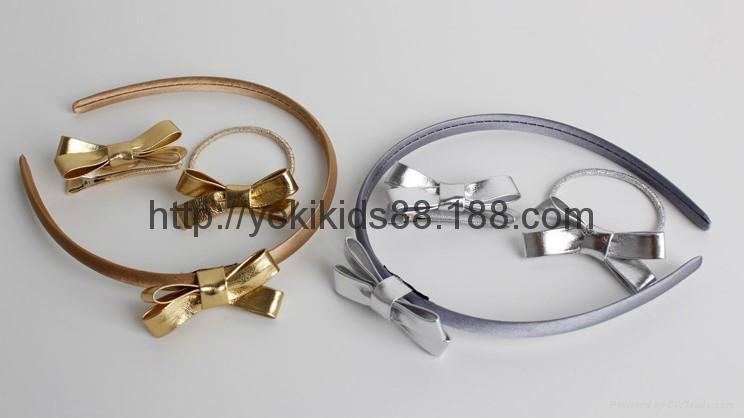 PU bow headdress hairclip headband 5