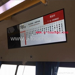 Bus Digital Signage LED Video Walls LCD Monitor with Bar Type