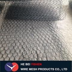 Gabion basket mesh for protecting dam