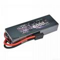 HRB 2Packs Lipo Battery 2S 7.4V 6000mah 60C HardCase & invite agents
