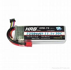 HRB 2 Pack 3S 11.1V 2200mAh 30C RC Lipo Battery T Plug & invite distributors