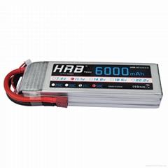 HRB 11.1V 6000mAh 50C-100C 3S RC lipo battery For Quadcopter & invite agents