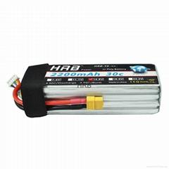 HRB 2200Mah 14.8V 4S 30C-60C RC LiPo Battery For AQV 250 300 Quadcopter