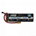 HRB 1x 4S 14.8v 4200mAh 35C XT60 Plug Multi-Rotor FPV Lipo Battery &invite agent