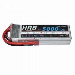 HRB RC Battery 14.8V 5000mAh 50C-100C 4S (155 x48 x32mm) RC AKKU LiPo Battery