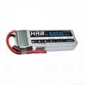 HRB RC Lipo Battery 14.8V 4s 6000mAh 50C XT60 Plug (NO TIE) For RC helicopters