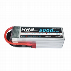 HRB 18.5V 5000mAh 5S Lipo Battery 50C Deans for RC Plane & invite agents