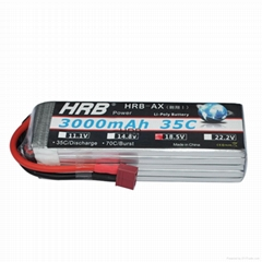 HRB 18.5V 3000MAH 5S 35C MAX 70C Lipo Battery Hard Case for RC Traxxas Car