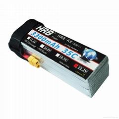 HRB Battery Lipo 6s 22.2V 3300mAh 35C Lipo Battery Bateria Lipo For RC FPV Car