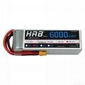 HRB 22.2V 6000mAh 50C RC Lipo Bateria Max 100C 6S 22.2V RC LiPo Battery AKKU