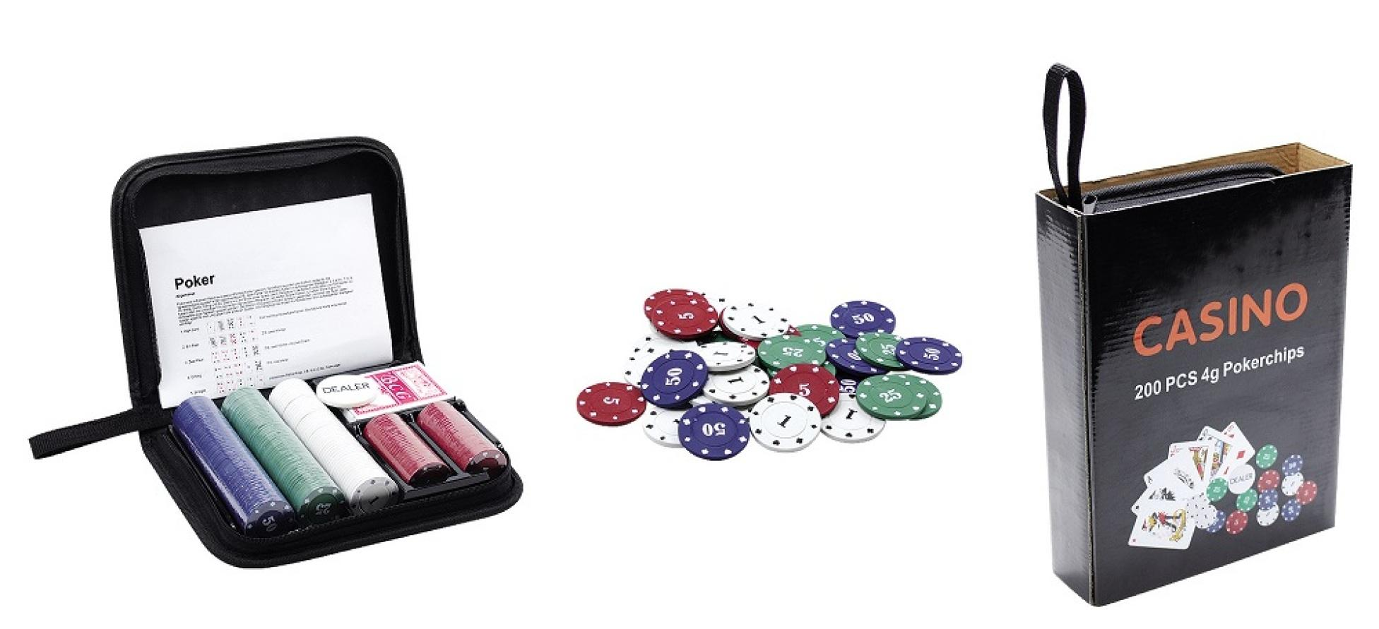 Cheap 100pcs Poker Chips Set With Blister Card Packing 1