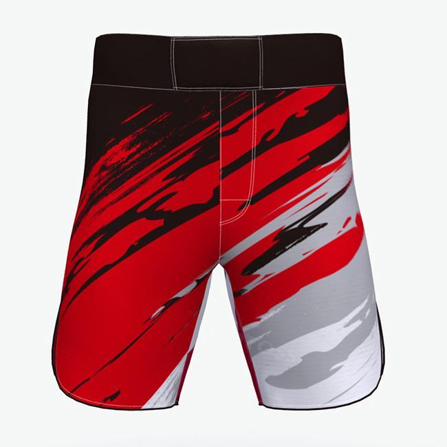 Best quality muay thai shorts red mma shorts 3