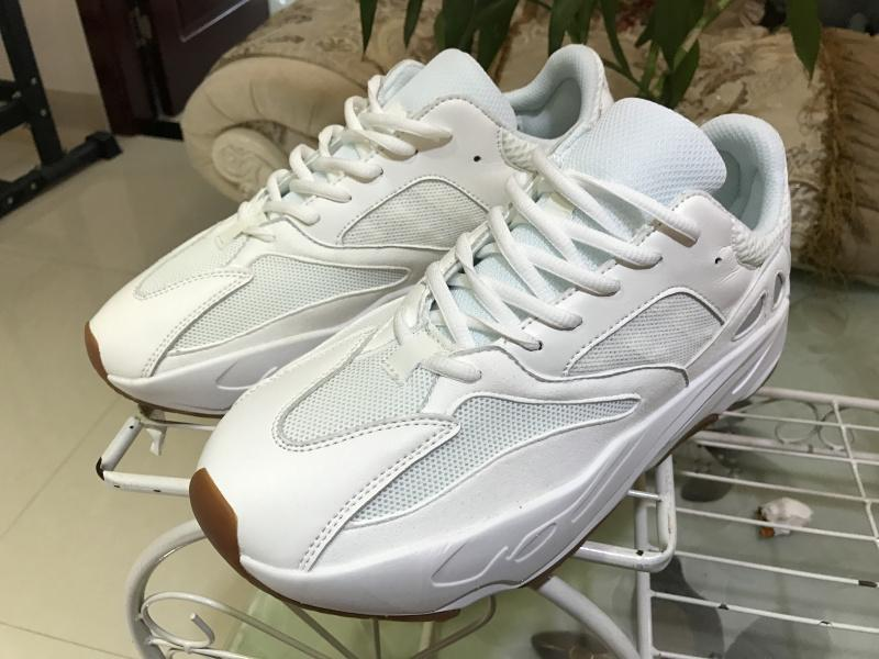 5bc39908a9a0f Coconut 700 pure white rubber sole Adidas Yeezy Wave Runner 700 size  36-46  ...