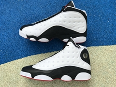 "Authentic Air Jordan 13   ""He Got Game"" Black and white panda   basketball shoes"