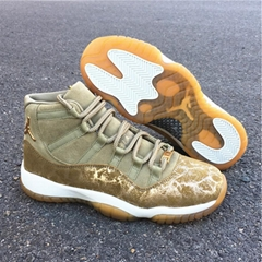 "The latest color Air Jordan 11 ""Neutral Olive"" basketball shoes basketball boot"