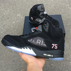 The latest color  Air Jordan 5 Retro Paris Saint-Germain basketball shoes