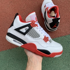 2020 HOT NEW  Air Jordan 4 Fire Red   Gray Blue Red Cool Gray 1:1 High Quality