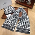 wholesale Dior Warm hat  Hats Sweater Knitted Woolen Caps With Dior Scarves Set