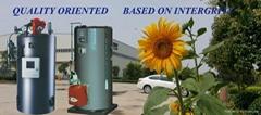 100 bhp vertical type gas oil fired steam boiler