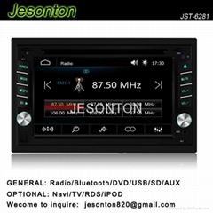 Universal In-dash 2 DIN car stereo and audio player with gps and rds