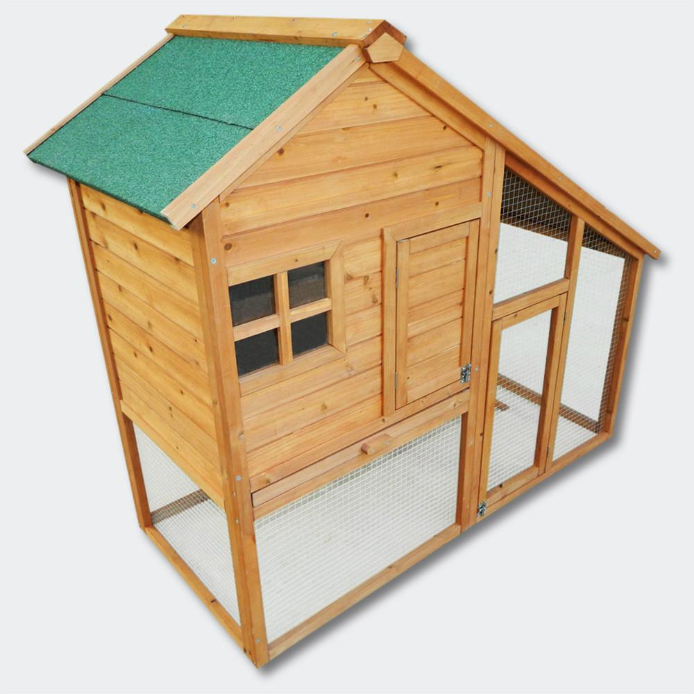 Wooden Rodent house Bunny hutch Hen coop Pet house Free run Enclosure 2