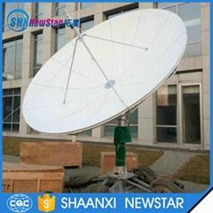 12feet 3.7m RO antenna single pole manual compact design prime focus C Ku band