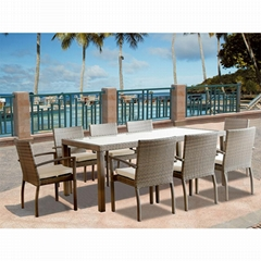 casual square dinning table set glass dining room furniture for sale