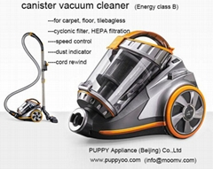 puppyoo best powerful bagless cylinder vacuum cleaner with cyclonic vacuum