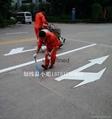 交通箭頭劃線導路面標識