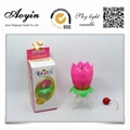 Rose Flower Musical Happy Birthday Candle
