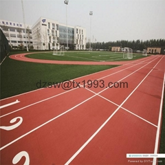9-13mm Environmentally Friendly Rubber Running Track