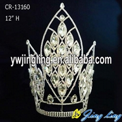 """12"""" Chunky Big Stone Pageant Crowns Accessories"""