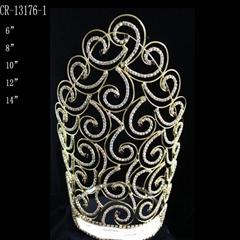 2015 Gold Rhinestone Crowns