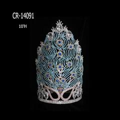 "10"" Wholesale Beauty Rhinestone Peacock Crowns"