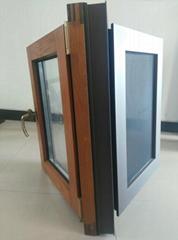 贝科利尔110系列铝包木带金钢网一体门窗