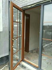 奢華調整鋁包木門窗