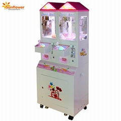 2 Players Coin Operated Mini Claw Crane