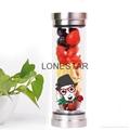 促销产品0.5升高硼硅双层玻璃水杯带硅胶套 2