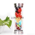 促销产品0.5升高硼硅双层玻璃水杯带硅胶套 4