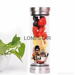 的产品0.5升食品级高硼硅饮料玻璃瓶带过滤器
