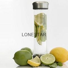 最热销的0.5升高硼硅玻璃水杯带过滤器